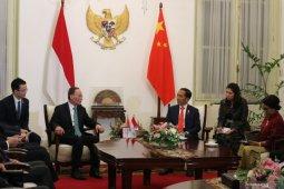 Usai dilantik, Presiden Jokowi langsung bertemu Wakil Presiden China Wang  Qishan