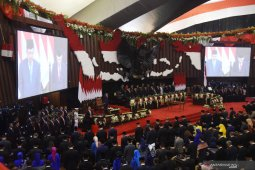 Smoot and peaceful Jokowi's second presidential inauguration