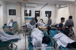 Bus rombongan SMAN 2 Banyuwangi terguling di Lumajang, 20 siswa terluka