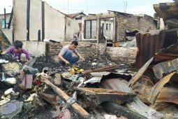 Kondisi terkini pascakebakaran puluhan rumah di Jalan Sentosa Lama Medan