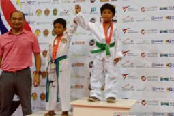 Atlet muda taekwondo Bangka Selatan raih medali emas Kejuaraan Internasional