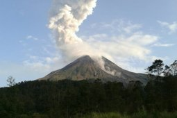 Gunung Merapi  keluarkan awan panas letusan setinggi 1.500 meter