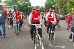 Wamenag gowes bareng ribuan guru madrasah di Yogyakarta