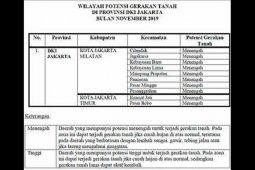 BPBD ungkap potensi gerakan tanah di Jakarta ada di 10 lokasi
