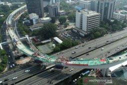 Konstruksi tersulit LRT tersambung, ini cuitan Presiden Jokowi