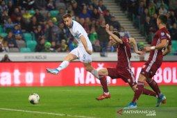 Slovenia menang atas Latvia,  namun nasibnya di tangan Austria