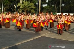 Ratusan Pramuka tampilkan atraksi drama kolosal di Balai Kota Bogor