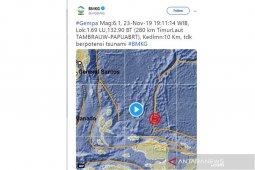 Gempa 5,2 Magnitudo terjadi di Kabupaten Bolaang Mongodow Selatan, Sulut