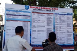 Portal SSCN Ternate ditutup, tercatat 2.668 pelamar CPNS