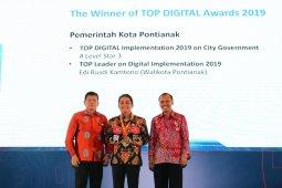 Pemkot Pontianak raih dua penghargaan Top Digital Award 2019