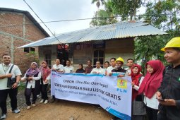 PLN UP3 pasang listrik gratis untuk warga kurang mampu