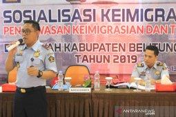 Kantor Imigrasi Tanjung Pandan deportasi 14 WNA