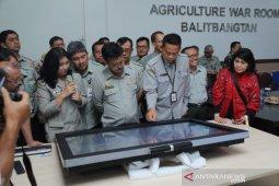 Menteri Pertanian bangun jaringan dan informasi pertanian seluruh Indonesia