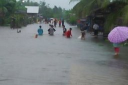 Sejumlah daerah di Kabupaten Sambas terendam banjir