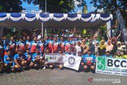 """BPJS Ketenagakerjaan Denpasar kampanyekan """"call name"""" BP Jamsostek lewat sepeda bersama"""