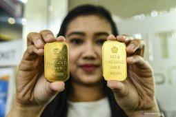 Emas berjangka naik tipis ditopang pelemahan dolar AS