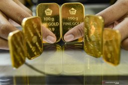 Harga emas Antam juga merangkak naik Rp1.000