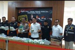 Bareskrim Polri tangkap empat kurir pembawa 37 kg sabu-sabu dari Malaysia