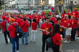 Saksikan final sepak bola SEA Games, Suporter Vietnam sewa delapan pesawat