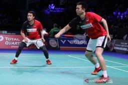 Hendra/Ahsan kantongi kemenangan kedua World Tour Finals