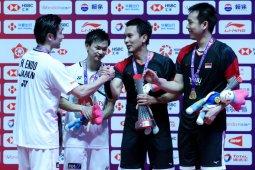 Hendra/Ahsan sebut gelar ketiga di World Tour Finals sebuah kejutan