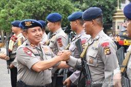 Kapolda Jambi sambut kepulangan personil Brimob dari Papua