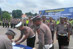 Personel Ditlantas Polda Jambi teken pakta integritas