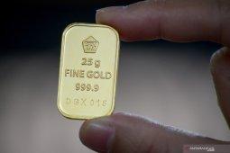 Harga emas Antam anjlok