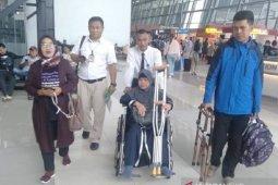 Mulyati, TKW korban kecelakaan kerja di Arab Saudi akhirnya tiba di Sukabumi