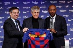 Quique Setien resmi diperkenalkan sebagai pelatih Barcelona