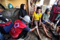 Kebakaran pasar penampungan di Kota Sukabumi akibatkan dua pedagang terluka