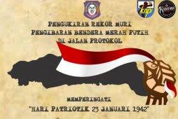 Bendera merah putih panjang 2.300 meter akan meriahkan Hari Patriotik