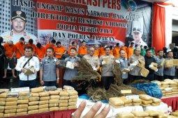 Polda Metro Jaya amankan 1,3 ton ganja
