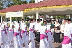 Ribuan siswa MDTA Deliserdang ikuti manasik haji akbar