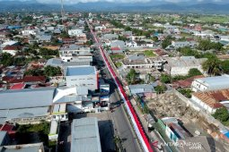 Rekor bendera Merah Putih terpanjang dari Gorontalo