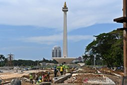 Ketua DPRD DKI kaget proses revitalisasi Monas hanya berisi beton
