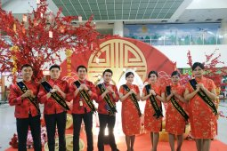 Meriahkan Imlek Bandara Kualanamu dipasangi pernak-pernik cantik
