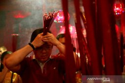 Inside the centuries-old temple in Jakarta on Lunar New Year