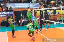Samator kalahkan Palembang Bank Sumselbabel 3-2