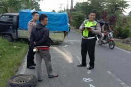 Dua mobil pick up tabrakan di Simpang Panei Simalungun