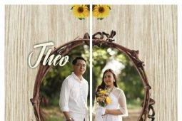 Bibit pohon sebagai suvenir pesta pernikahan Trisepteo-Maria