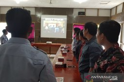 Rutan Putussibau dan wartawan video confrenece dengan Kemenkumham