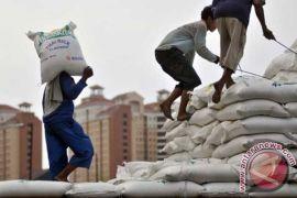 10.000 ton beras impor asal India sudah masuk Belawan
