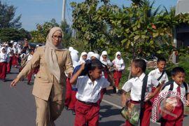 Pelajar Aceh Barat latihan hindari dampak tsunami