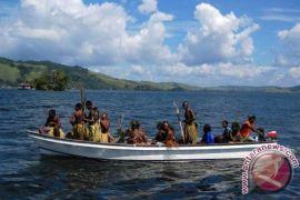 Perahu terbalik di Danau Sentani, empat orang tewas