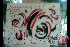 Inilah lukisan kolaborasi Puan Maharani
