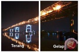 Pemkot Pontianak Kesal  Lampu Hias Jembatan Kapuas Dipreteli