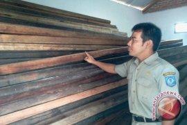 Polhut Bangka Selatan amankan 6,3 kubik kayu