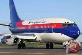 Pesawat Sriwijaya Air Berangkat Dari Bandara Jalaluddin