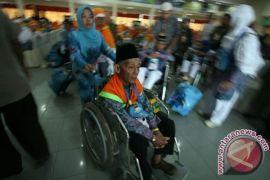Dini hari tadi Kloter 1 debarkasi Medan tiba di Kualanamu